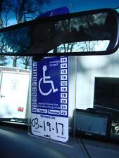 1 Rear View Mirror Handicap Disabled Permit Parking Pass Holder Placard