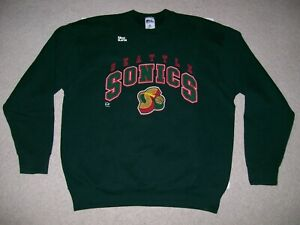 VTG OG 90s ProPlayer 2XL NBA SEATTLE SUPER SONICS Sweatshirt Payton Kemp Starter