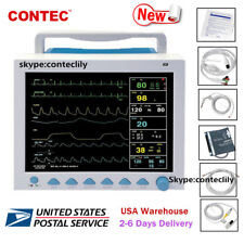 CMS8000 Patient Monitor Vital Signs ICU CCU ECG,NIBP,SPO2,PR,RESP,TEMP 6 Paras