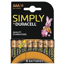 24 pile batterie ministilo AAA  DURACELL Simply 1,5 V