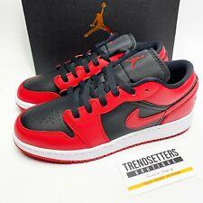 Nike Air Jordan 1 LOW GS SZ 4 4.5 5 5.5 6 6.5 Damen schwarz rot Bred Chicago Toe
