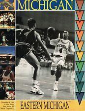 Michigan Basketball Program - vs. Eastern Michigan, December 4, 1990