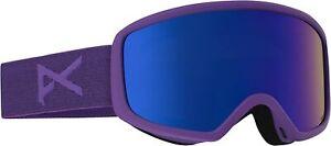Anon Deringer Ski Snow Goggles Imperial Purple w/ Blue Cobalt Lens + MFI Mask