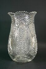 Beautiful Vintage Cut Crystal Glass Vase