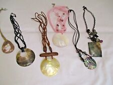 BUNDLE 6 DIFFERENT SHELL NECKLACE S DROP 22 - 31CMS PAUA ABOLONE MOTHER OF PEARL