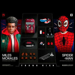 YOUNGRICH TOYS SP001 1/6 Spiderman Into the Spider-Verse Miles Figure Collection