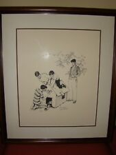 NORMAN ROCKWELL Fido's Dog House Signed Limted Edition Lithograph
