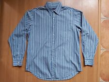 Polo Ralph Lauren Purple Label Mens Striped Button Up Formal Shirt Made in Italy
