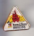 RARE PINS PIN'S .. DISNEY PARIS OPENING 1992 PHILIPS MICKEY CHATEAU ~14