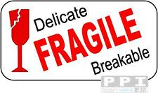 96 FRAGILE GLASS Medium Stickers Labels 24 Labels/Sheet 4x Sheets FRA-03-24