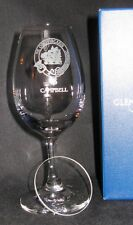 CLAN CAMPBELL SCOTCH WHISKY GLENCAIRN COPITA NOSING GLASS WITH WATCH GLASS COVER