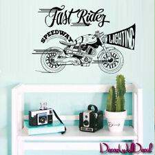 Wall Decal Moto Motobike Motorcycle Track Dirt Bike Sport Fast Rider decor M1740
