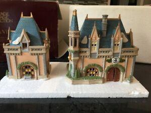 dept 56 disney parks village mickey's christmas carol building snow