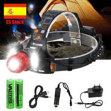T6 XM-L LED Zoom Linterna 18000lm Faro Cabeza Luz Frontal LÁMPARA 18650 batería