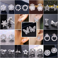 Multiple Styles Stud Earring Women 925 Silver Jewelry Free Shipping A Pair/set