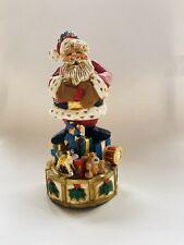 David Frykman Collection Christmas Santa Music Box Signed Toyland Coynes 1995