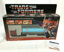 G1 Transformers Optimus Prime Boxed Peter Cullen Autographed Signed PSA Cert