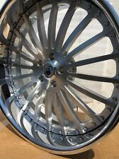 22 Inch 3pc Asanti Wheels Brushed With Clear Center Chromed Outer Lip