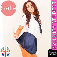 SCHOOL GIRL NAUGHTY STUDENT FancyDress Costume Womens Outfit Sexy St Trinians