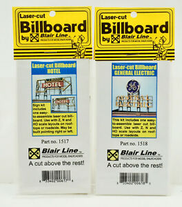 BLAIR LINE HO SCALE 1517/18 HOTEL & G.E. BILLBOARD KIT