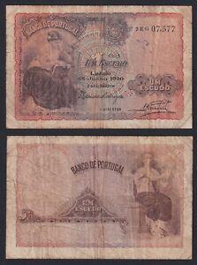 Portogallo 1 escudo 1920 BB-/VF-  C-05