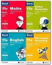 Bond 11+ Plus Assessment Papers 4 Books English Maths Verbal Reason 8-9 Year.