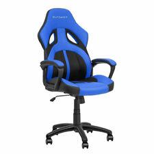 Sedia poltrona da ufficio direzionale ruote girevoli racing sportiva gaming blu
