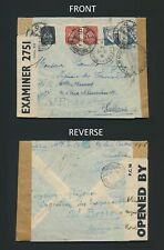1944 PORTUGAL COVER-ST PIERRE & MIQUELON CONTROLLE POSTAL, WWII CENSORED TWICE