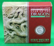 Australien Lunar Dragon Drache $1 2012 1oz Silber Australia Proof High Relief HR
