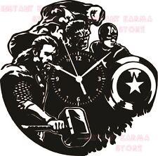 Exclusif Horloge Murale Disque Vinyle 33 tours - SUPER HERO - THE AVENGERS #2