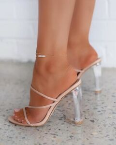 Women's Open Toe Sandals Block High Heels Strap Slipper Clear Elegant Party Sexy