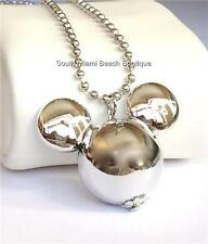 Mickey Mouse Ears Necklace Disney Chunky Pendant Long 24 inch Chain USA Seller