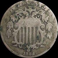 1882 Shield Nickel, US Type Collectors coin