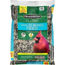 Pennington Classic Wild Bird Feed & Seed, 40 lb, Attracts A Variety Of Wild Bird
