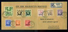 British Occupation of Italian Colonies Somalia EAF cover Mogadishu to Nairobi RR