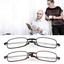 Hot Plegable Gafas de lectura rotación Gafas Anteojos pierna telescópica +1.0 ~ +4.0