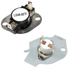 HQRP Dryer Thermostat Thermal Fuse CutOff Kit for Amana 1DNET3205TQ0 Replacement