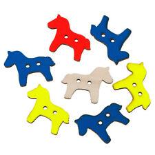 10 x Botones de Madera Caballo de neón, 29 X 23 mm, dos agujeros-Envío Gratis ** ** Vendedor de Reino Unido
