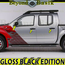 Fits 2005-2018 NISSAN FRONTIER GLOSS BLACK Door Handle COVERS NS+Mirror Overlays