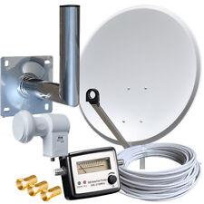 Sat Anlage 80cm Spiegel Satfinder Twin LNB Full HD Kabel SAT Anlage  Wandhalter