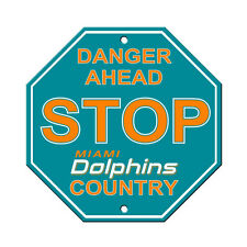 """New Miami Dolphins Country Danger Ahead STOP Sign 12"""" x 12"""" Octagon Made in USA"""