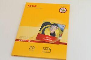 4 packs KODAK A4 PREMIUM GLOSS INSTANT DRY 240gsm PHOTO PAPER x 20 SHEETS
