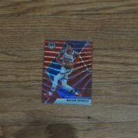 2019-20 Matisse Thybulle Rookie Card Mosiac Red Wave Prizm Philadelphia 76ers