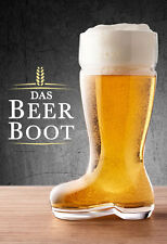 DAS BEER BOOT Large 1 Litre STEIN Glass German Bierstiefeln OKTOBERFEST BEERFEST
