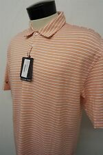 NEW! OXFORD GOLF RIVER CREST orange dry polo shirt sz L mens S/S#6475 c108
