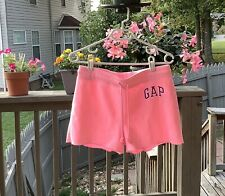Women's GAP Logo Pink Fleece Shorts Small