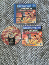 dreamcast game star wars demolition with manual