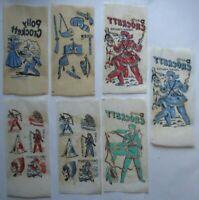 Davy Crockett Original Vintage 1950s Set Of 7 Iron On Transfer Decals