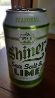 Shiner Sea Salt and Lime Seasonal Lager Beer TEXAS empty aluminum can 12 oz.