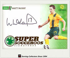 2013-14 A League Trading Cards Super Socceroos Signature SS6 Matt Mckay